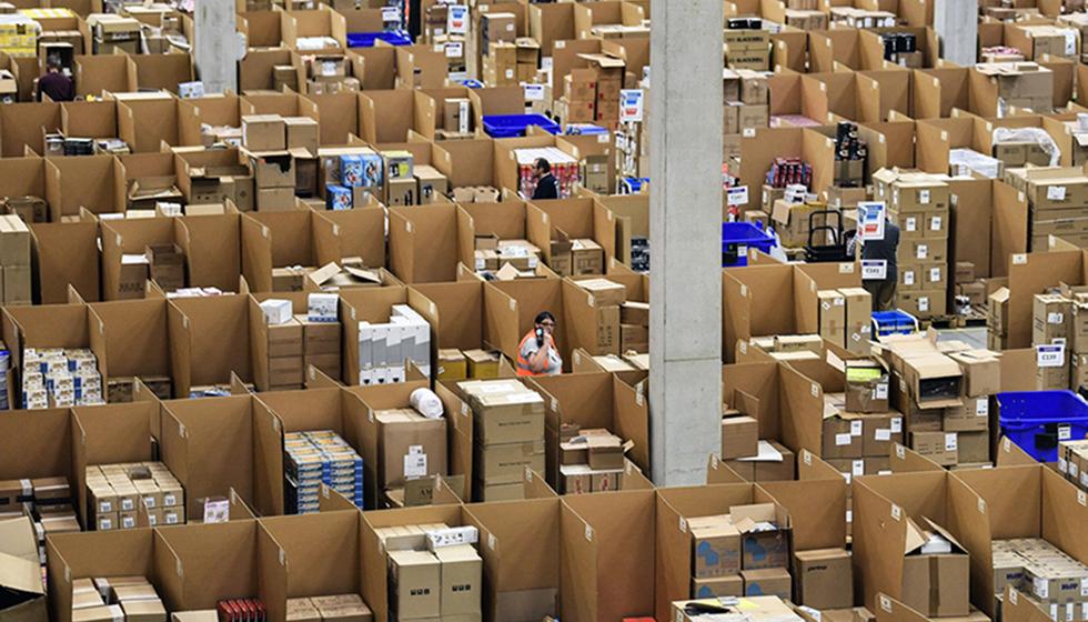 Ett av Amazons lager.