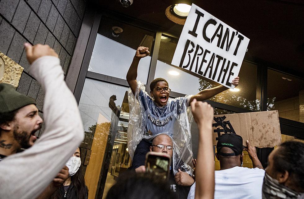 Protesterande i USA
