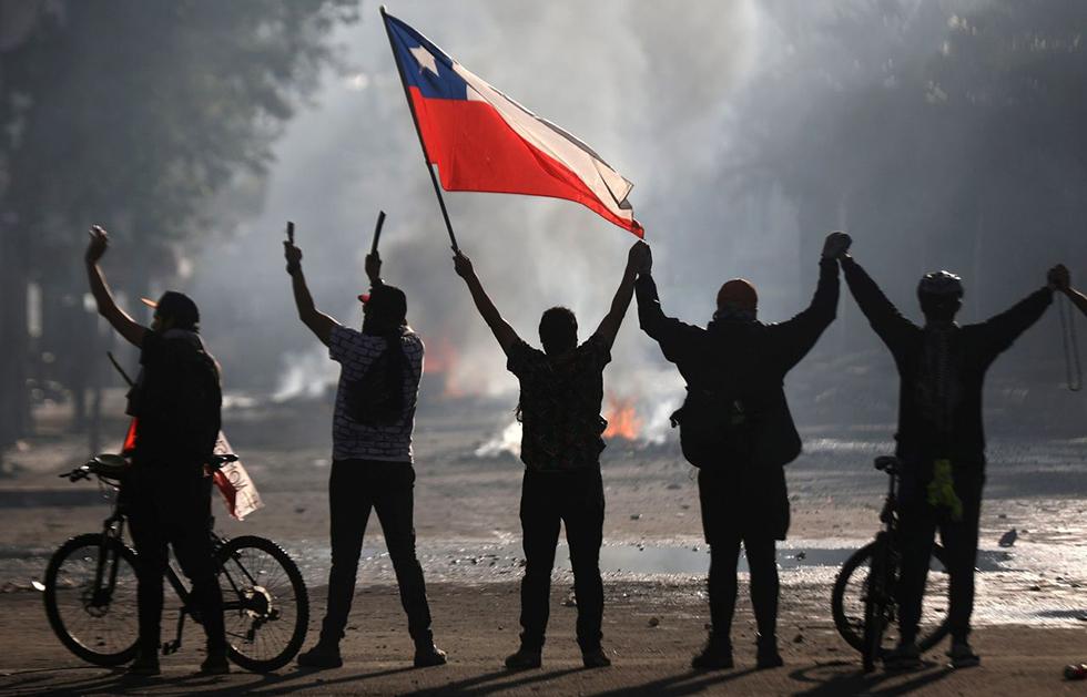 Från protesterna i Chile