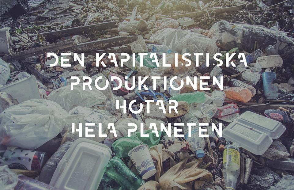 Propagandabild om klimatet och kapitalismen