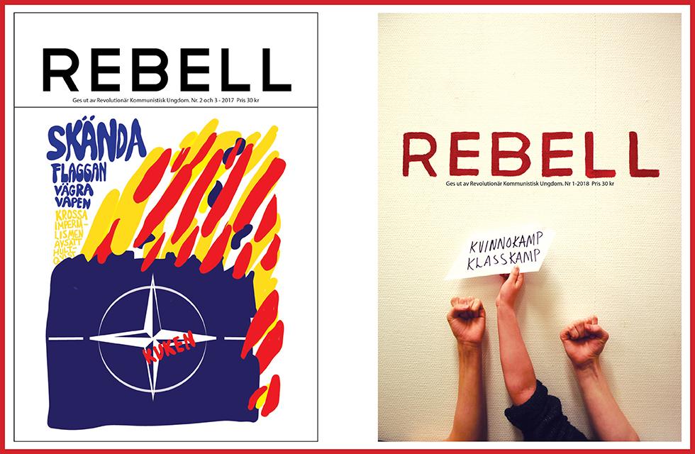 Omslag på äldre nummer av Rebell