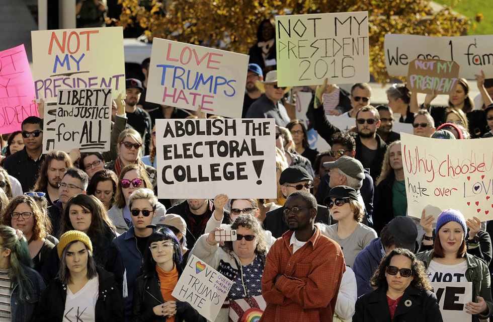 Protest mot nuvarande president Donald Trump